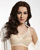 Soft bra, wide shoulder straps, lace cups, B to K-cup
